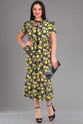 Купить Платье Ива 1010 лимон, Платья, 1010, лимон, плательная 70% п/э, 25% вискоза, 5% спандекс, Лето