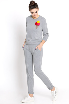 Купить Спортивный костюм PIRS 358 серый, Спортивные костюмы, 358, серый, 49% хлопок 48% нейлон 3 % спандекс, Мультисезон