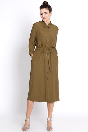 Купить Платье PIRS 365 хаки, Платья, 365, хаки, 100% вискоза, Мультисезон