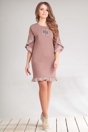 Купить Платье Golden Valley 4456 бледно розовый, Платья, 4456, бледно розовый, Тип ткани: трикотажный, плательный Хлопок 80%, полиэстер 20%, Лето