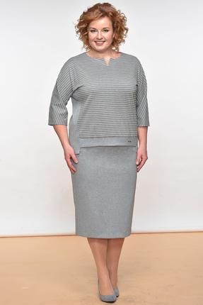 Купить Комплект юбочный Lady Style Classic 1374 серые тона, Юбочные, 1374, серые тона, Вискоза 64%+ПЭ 32%+ПУ 4%, Мультисезон