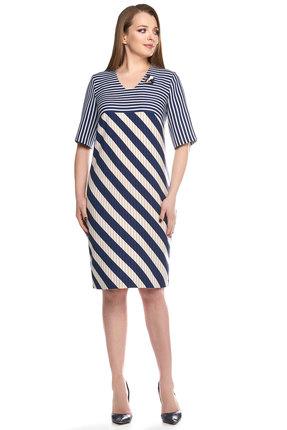Купить Платье Denissa Fashion 1145 полоски, Платья, 1145, полоски, 62% Пэ, 35% вискоза, 3% спандекс, Лето