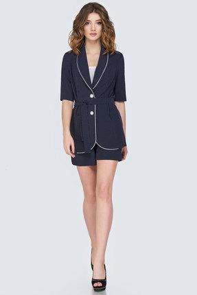 Купить Комплект с шортами Denissa Fashion 1138 синий, С шортами, 1138, синий, 96% ПЭ, 4% спандекс, Лето