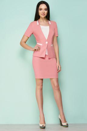 Купить Комплект юбочный Lady Secret 1522/1 розовый, Юбочные, 1522/1, розовый, Жакет и юбка: ПЭ 100% Топ: Вискоза 95%+Спандекс 5%, Лето