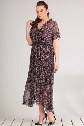 Купить Платье Golden Valley 4469 темно-синий с цветным, Платья, 4469, темно-синий с цветным, Текстиль, плательный (полиэстер 100%), Лето