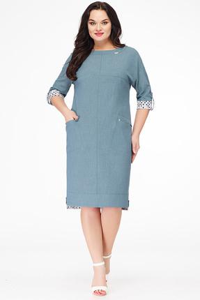 Купить Платье Erika Style 604 серо-зеленый, Платья, 604, серо-зеленый, Вискоза 72%, ПЭ 25%, спандекс 3%, Лето