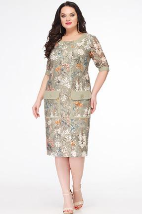 Купить Платье Erika Style 614 хаки, Платья, 614, хаки, Вискоза 72%, ПЭ 25%, спандекс 3%, Лето