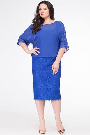 Купить Платье Erika Style 625 василек, Платья, 625, василек, Вискоза 72%, ПЭ 25%, спандекс 3%, Лето