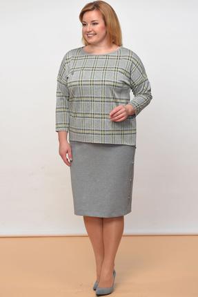 Купить Комплект юбочный Lady Style Classic 1177 серые тона, Юбочные, 1177, серые тона, Вискоза 64%+ПА 32%+ПУ 4%, Мультисезон