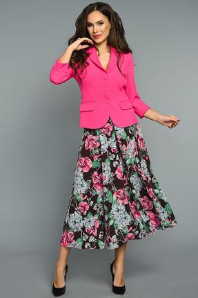 Купить Комплект юбочный Teffi style 1316 маджента, Юбочные, 1316, маджента, 96% ПЭ 4% спандекс Ткань: жакет – костюмно-плательная, юбка – шифон стрейч., Мультисезон