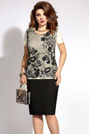 Фото - Комплект юбочный Vittoria Queen 5923 черный с молочным цвет черный с молочным