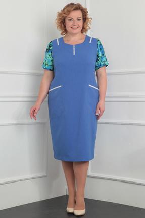 Купить Платье Milana 922 василек, Платья, 922, василек, Материал платья: костюмно-плательная. Состав: вискоза-39%, ПЭ-44%, лён-17%., Мультисезон