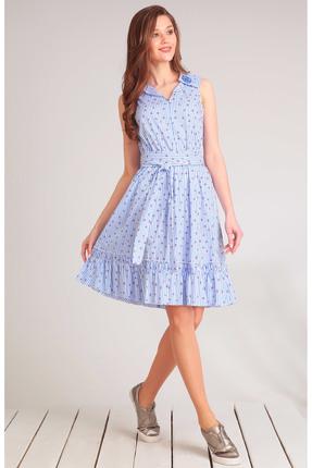Купить Платье Golden Valley 4470 голубая полоска, Платья, 4470, голубая полоска, Текстиль, плательный (вискоза 64%, полиэстер 34%, эластан 2%), Лето