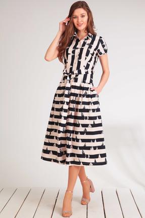 Купить Платье Golden Valley 4473-1 полоска , Платья, 4473-1, полоска , Текстиль, плательный (хлопок 97%, спандекс 3%), Лето