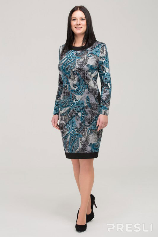 Платье Теллура-Л 272 бирюзовые тона