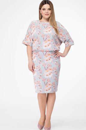 Купить Платье Bonna Image 339 голубые тона, Платья, 339, голубые тона, 71% ПЭ, 25% Вискоза, 4% Спандекс, Лето
