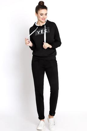 Купить Спортивный костюм PIRS 359 черный YES, Спортивные костюмы, 359, черный YES, 49% хлопок 48% нейлон 3 % спандекс, Мультисезон