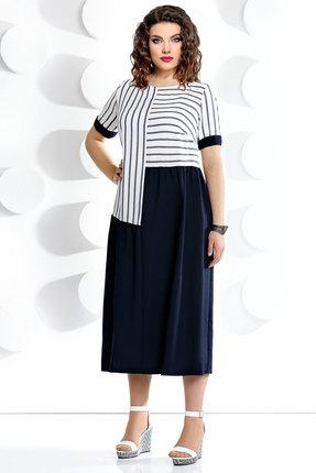 Купить со скидкой Платье Мублиз 232 синий с белым