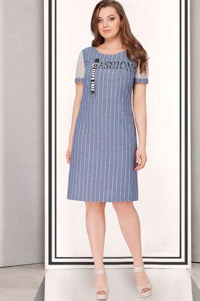 Купить Платье ТАиЕР 692 голубой, Платья, 692, голубой, Лён - 100%, Лето