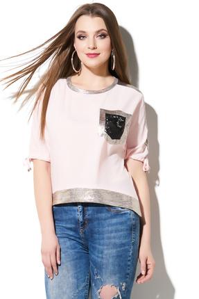 Купить Блузка DiLiaFashion 0111 розовый, Блузки, 0111, розовый, ПЭ 65%, 30% вискоза, 5% спандекс, Лето