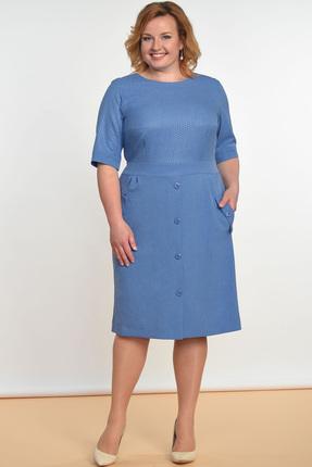 Купить Платье Lady Style Classic 1245 голубые тона, Платья, 1245, голубые тона, ПЭ 73%+Вискоза 25%+ПУ 2%, Лето
