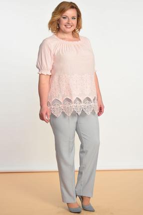Комплект брючный Lady Style Classic 1388 персик с серым
