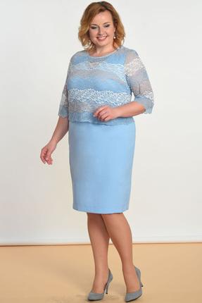 Купить со скидкой Комплект плательный Lady Style Classic 1419 голубой