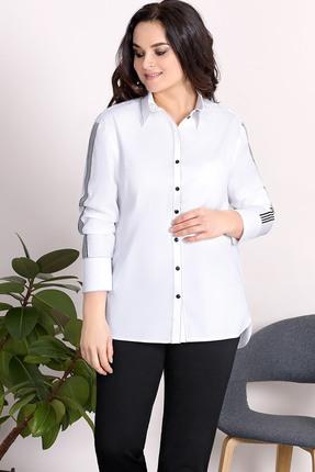 Купить Рубашка Olga Style с503 белые тона, Рубашки, с503, белые тона, хлопок 97%, спандекс 3%, Лето
