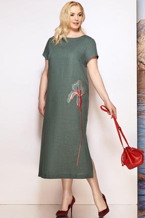 Фото - Платье Prestige 3448 хаки цвета хаки