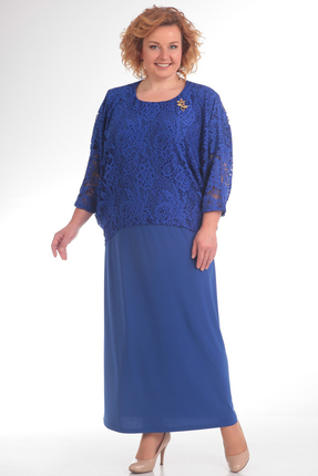 Купить Платье Pretty 572 василек, Платья, 572, василек, 96% полиэстр 4% спандекс, 100% полиэстр, Мультисезон