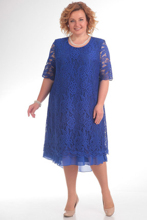Купить Платье Pretty 709 василек, Платья, 709, василек, 96% полиэстр 4% спандекс, 100% полиэстр, Мультисезон