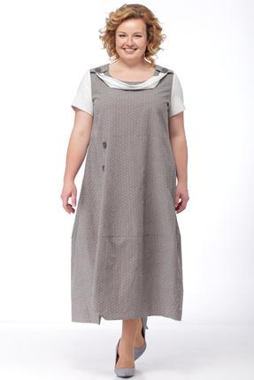 Купить Платье Michel Chic 697 серый, Платья, 697, серый, 97% хлопок, 3% полиэстер, Мультисезон