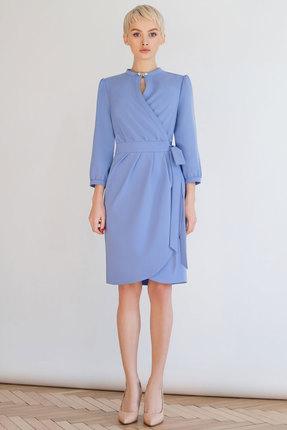 Купить Платье ЮРС 18-814-1 голубые тона, Платья, 18-814-1, голубые тона, полиэстер – 75%, вискоза – 20%, спандекс – 5%, Лето