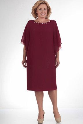 Купить Платье Elga 01-468 бордо, Вечерние платья, 01-468, бордо, полиэстер 100%, Мультисезон