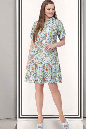 Купить Платье ТАиЕР 688 голубой, Платья, 688, голубой, Вискоза 26%, ПЭ 70%, Эластан 4%, Лето