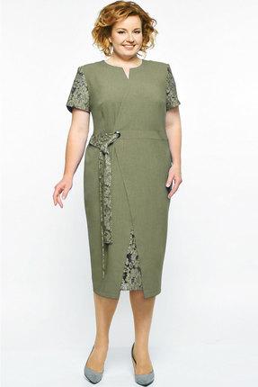 Купить Платье Elga 01-542 олива , Повседневные платья, 01-542, олива , 68% Вискоза 30% ПЭ 2% Спандекс, Лето