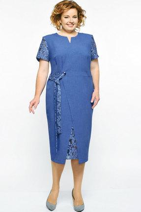Купить Платье Elga 01-542 синий, Повседневные платья, 01-542, синий, 68% Вискоза 30% ПЭ 2% Спандекс, Лето