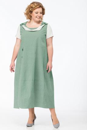 Купить Платье Michel Chic 697 зеленый, Платья, 697, зеленый, 97% хлопок, 3% полиэстер, Мультисезон