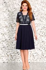 Платье Mira Fashion 4430 тёмно-синий