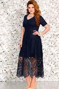 Платье Mira Fashion 4435 тёмно-синий