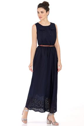 Купить Платье PIRS 387 синий, Платья, 387, синий, 100% хлопок, Мультисезон