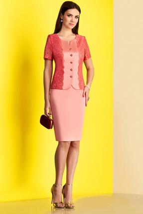 Купить Комплект юбочный Lissana 3160 кораллово-розовые тона, Юбочные, 3160, кораллово-розовые тона, Вискоза 95%+Спандекс 5%, Лето
