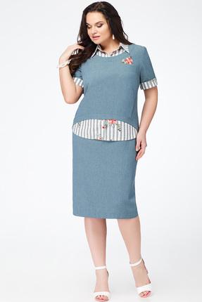 Купить со скидкой Платье Avanti Erika 612-2 серо-голубые тона