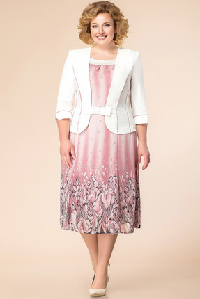 Купить Платье Romanovich style 1-886 розовые тона, Платья, 1-886, розовые тона, текстиль (пэ 100%), Лето