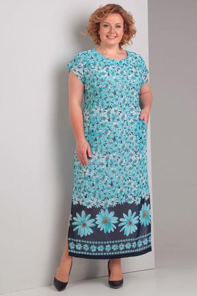 Купить Платье Диамант 1090 голубые тона, Платья, 1090, голубые тона, 100% ПЭ, Лето