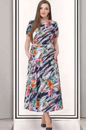Купить Платье ТАиЕР 526 мультиколор, Платья, 526, мультиколор, Вискоза 40%, ПЭ 55%, Эластан 5%, Лето