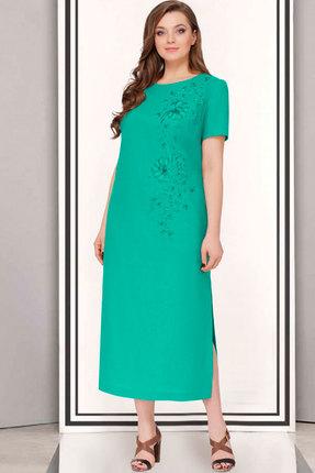Купить Платье ТАиЕР 623 зелёный, Платья, 623, зелёный, Лен 100%, Лето