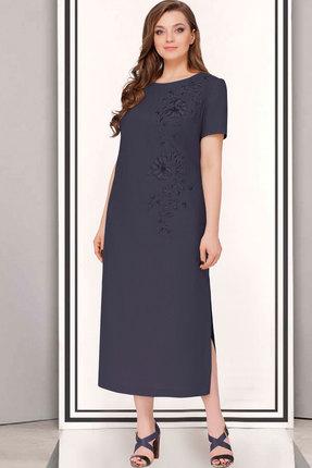 Купить Платье ТАиЕР 623 тёмно-синий, Платья, 623, тёмно-синий, Лен 100%, Лето