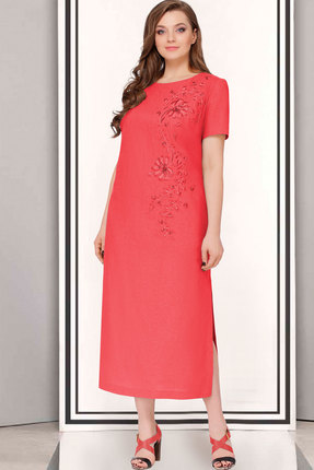 Купить Платье ТАиЕР 623.1 красный, Платья, 623.1, красный, Лен 100%, Лето