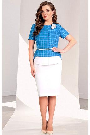 Фото - Комплект юбочный Мишель стиль 702 голубой голубого цвета